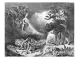 Faust and Mephistopheles at the Witches' Sabbath, from Goethe's Faust, 1828 Giclee Print by Eugene Delacroix