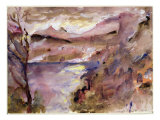 View of Walchen Lake, 1919 Giclee Print by Lovis Corinth