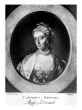 Caroline Matilda, Queen of Denmark and Norway, Engraved by Brookshaw Giclee Print by Francis Cotes