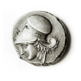 Didrachma of Heracles: Obverse Depicting Athena Giclee Print