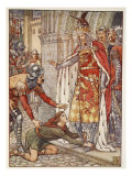 Young Owen Appeals to the King, from 'Stories of the Knights of the Round Table' by Henry Gilbert,  Giclee Print by Walter Crane