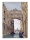 The Bridge of Sighs, Venice, engraved by Lefevre Giclee Print by Giovanni Pividor