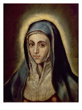 The Virgin Mary, c.1594-1604 Giclée-tryk af  El Greco