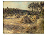 Haystacks in Sunset, 1906 Giclee Print by Léon Augustin L'hermitte