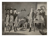 Major John Andre, the British Officer Hanged for Spying in 1780, Hears the Death Warrant Giclee Print by Alonzo Chappel