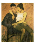 Urbanite Couple, 1920 Giclee Print by Otto Mueller