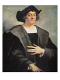Christopher Columbus Giclée-tryk af Sebastiano del Piombo