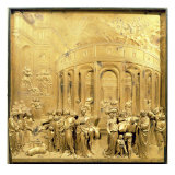 The Story of Joseph, Original Panel from the East Doors of the Baptistery, 1425-52 Giclée-tryk af Lorenzo Ghiberti
