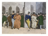 The Stock Exchange, engraved by Rougeron-Vignerot, 1856 Giclee Print by Henri Bonaventure Monnier