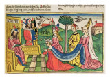 Esther 2 15-18, Esther is chosen to be Queen by the Persian King Ahasuerus, from Nuremberg Bible Giclee Print