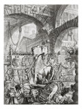 The Man on the Rack, from 'Carceri d'Invenzione', c.1749 Giclee Print by Giovanni Battista Piranesi