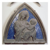 Virgin and Child, Detail, Relief Tile from the Campanile Giclee Print by Andrea Pisano