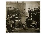Crew of the Original 'Monitor' on Deck, 1862 Giclee Print by Mathew Brady & Studio