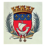 Coat of Arms of the City of Paris with the Motto 'Fluctuat Nec Mergitur' Giclee Print