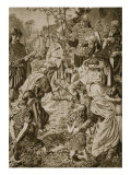 The Submission of Guthrum to King Alfred Giclee Print by Herbert Alfred Bone