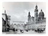Royal Palace, Hall of Marshals and Church of the Theatines in Munich Giclee Print by Nicolas-marie-joseph Chapuy