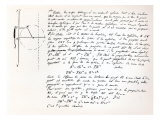 Beginning of Galois's Examination Script for the Concours General, 1829 Giclee Print by Evariste Galois