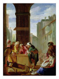 The Parable of the Precious Pearl or The Pearl of Great Price Giclee Print by Domenico Feti