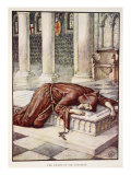 The Death of Sir Lancelot, from 'Stories of Knights of Round Table' by Henry Gilbert Giclee Print by Walter Crane