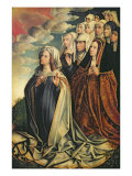 Mary the Mediator with Joanna the Mad Giclee Print by Colijn de Coter