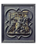 Christ Chasing Merchants from Temple, Seventh Panel of North Doors of Baptistery of San Giovanni Giclee Print by Lorenzo Ghiberti
