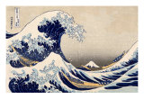The Great Wave off Kanazawa from from the Series '36 Views of Mt. Fuji', Hokusai, Katsushika Giclee Print by Katsushika Hokusai