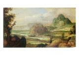 Mountain Landscape Giclee Print by W.B. Katz