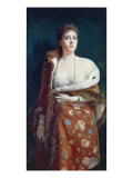 Portrait of the Duchess of Fondi Giclee Print by Francesco Paolo Michetti