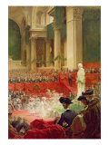 The Ceremony at the Pantheon to Celebrate the Centenary of the Birth of Victor Hugo Giclee Print by Theobald Chartran