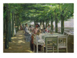 The Terrace at Jacob's Restaurant in Nienstedten-an-der-Elbe, 1902-03 Reproduction procédé giclée par Max Liebermann
