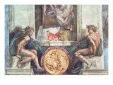 Sistine Chapel Ceiling: Ignudi Giclee Print by  Michelangelo Buonarroti