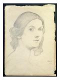 Portrait of Isadora Duncan Giclee Print by Leon Bakst