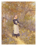Gathering Wood for Mother Giclee Print by Helen Allingham