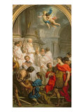 The Mass of St. Basil Giclee Print by Eustache Le Sueur