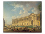 The Colonnade of the Louvre. C.1770 Giclee Print by Pierre-Antoine Demachy