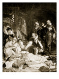 The Death of Queen Elizabeth, March 24Th, 1603 Giclee Print by Hippolyte Delaroche
