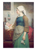 Sweet Slumber, 1875 Giclee Print by Emile Auguste Hublin