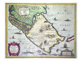 Map of the Magellan Strait, Giclee Print