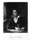 Percy Bysshe Shelley, Engraved by William Holl Giclee Print by Amelia Curran