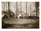 Building Winter Quarters at City Point, 1861-65 Giclee Print by Mathew Brady & Studio