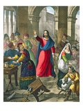 Christ Cleanses the Temple, from a Bible Printed by Edward Gover, 1870's Giclee Print by Siegfried Detler Bendixen