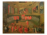 Audience with the Doge in at the College of the Ducale Palace Giclee Print by Joseph Heintz
