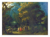 The Sermon of John the Baptist Giclee Print by Adam Elsheimer
