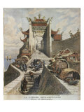 Sino-Japanese War, Shanghai gate, Illustration from 'Le Petit Journal', 6th January 1895 Giclee Print by Henri Meyer
