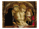 Lamentation of the Dead Christ, Detail from the Sant'Emidio Polyptych, 1473 Giclee Print by Carlo Crivelli