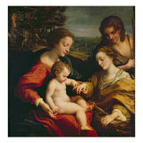 The Mystic Marriage of St. Catherine of Alexandria, c.1526-27 Giclee Print by  Correggio