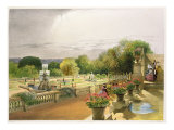 The Parterre, Harewood House near Leeds, pub. by Thomas McLean Giclee Print by E. Adveno Brooke