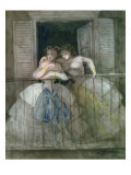 Girls on the Balcony, 1855-60 Giclee Print by Constantin Guys