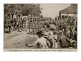 Surrender of Kroonstadt: Troops Marching Past Lord Roberts and Staff, from Sketch by Melton Prior Giclee Print by Samuel Begg