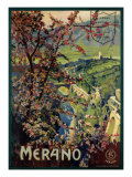 Poster of Merano, printed by Richter and C. Naples, c.1926 Giclee Print by Mario Borgoni